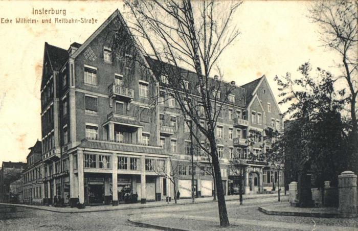 Ecke Wilhelm- und Reitbahn-Strasse, Insterburg