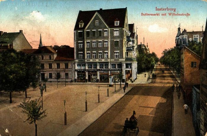 Buttermarkt mit Wilhelmstrasse, Insterburg