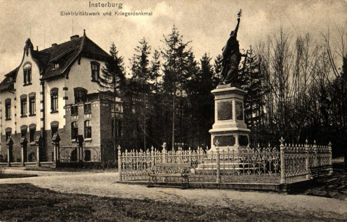 Elektrizitätswerk und Kriegerdenkmal, Insterburg