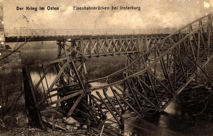 Eisenbahnbrüken bei Insterburg
