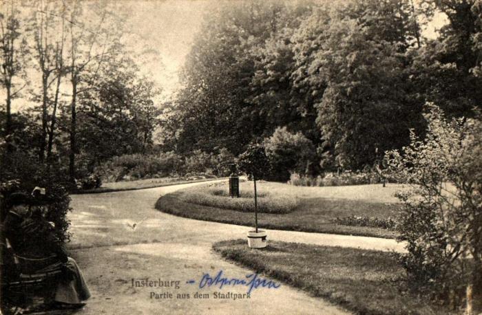 Partie aus dem Stadtpark, Insterburg