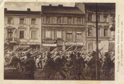 Rückzug der letzten Russen aus Insterburg