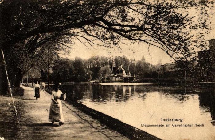 Uferpromenade am Gewehnschen Teich, Insterburg