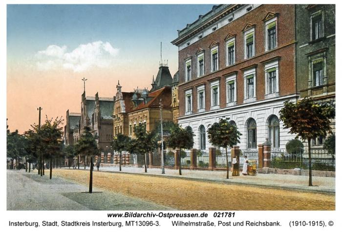 Wilhelmstrasse, Post und Reichsbank, Insterburg