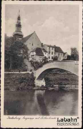 Angerapp mit Lutherkirche, Insterburg