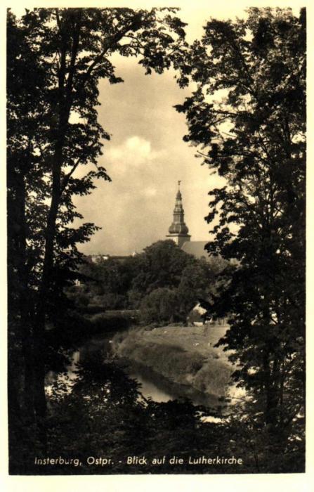 Blick auf die Lutherkirche, Insterburg