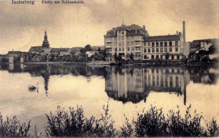 Partie am Schlossteich, Insterburg