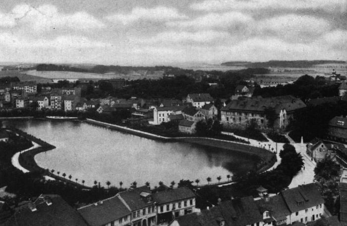 Partie am Schlossteich und Schloss, Insterburg