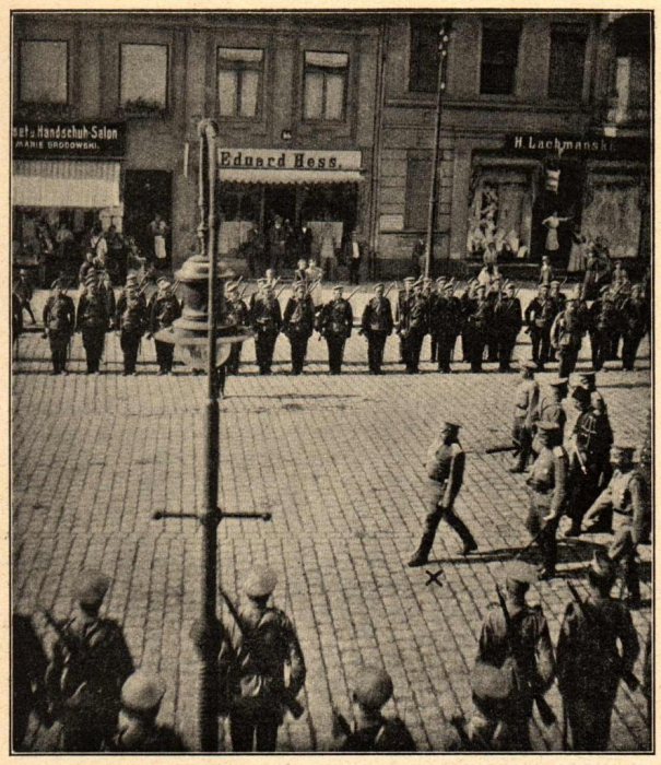 Russische Parade in Insterburg am 5. Sept. 1914