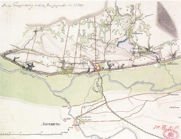 План местности близ Георгенбург