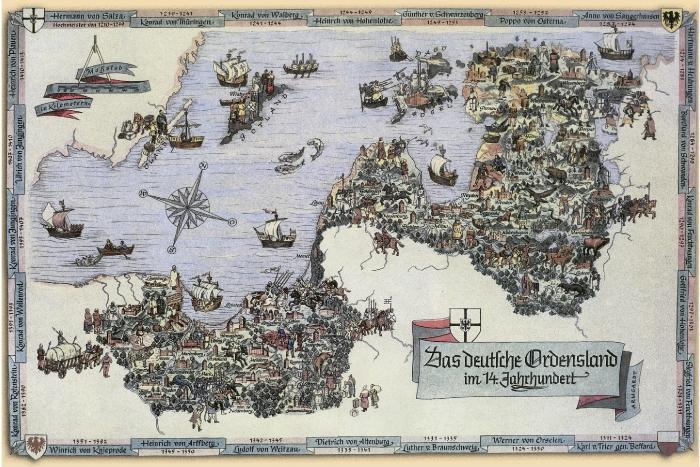 Земли немецкого священного ордена в 14 веке