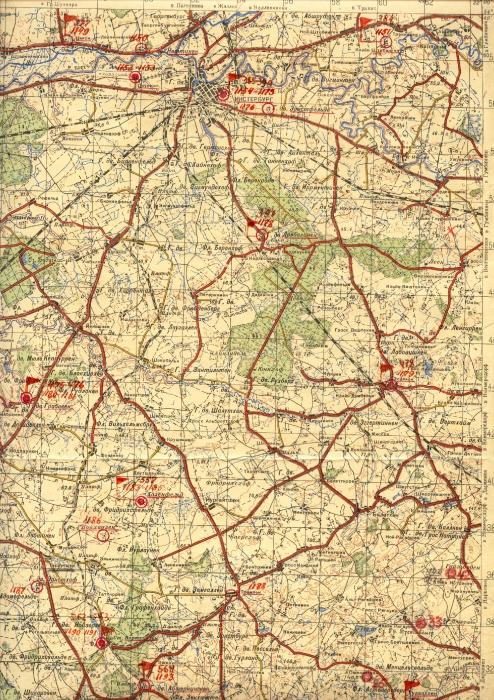 Топографический план Инстербурга