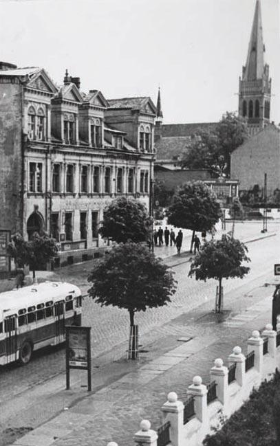 Ул. Первомайская. 1950-е годы, Черняховск