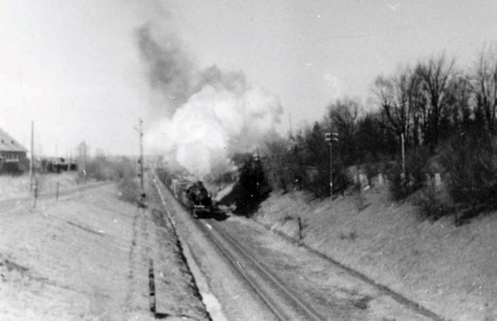 На подъезде к станции Черняховск. 1950-е годы