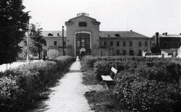 Вокзал станции Черняховск. Конец 1950-х годов
