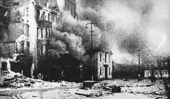 Инстербург после штурма. Вид на Альтер Маркт со стороны Лютеранской кирхи. 22 января 1945 года