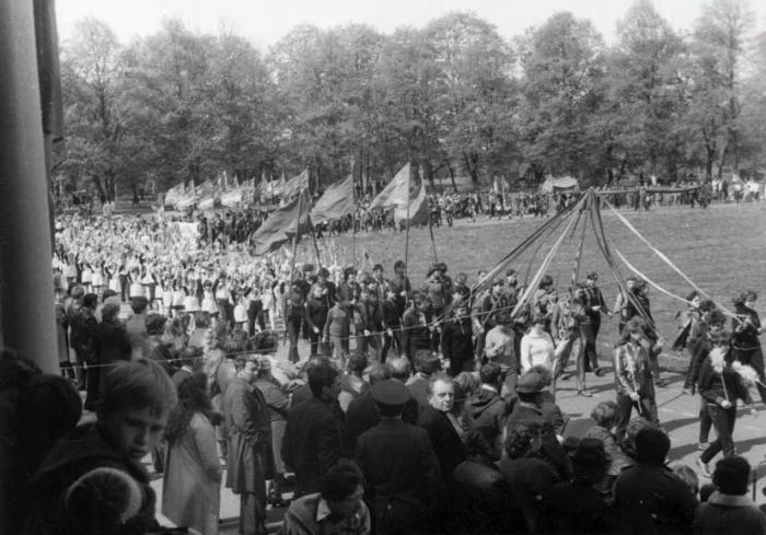 Праздник на городском стадионе, Черняховск
