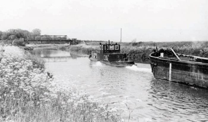 Канал, ведущий от Черняховского речного порта к Преголе. 1950-е годы