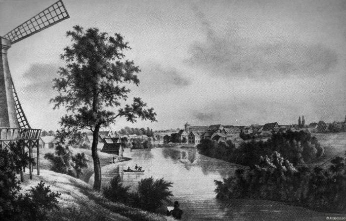 Im Jahre 1842 Insterburg hatte ein sehr ländliches Aussehen