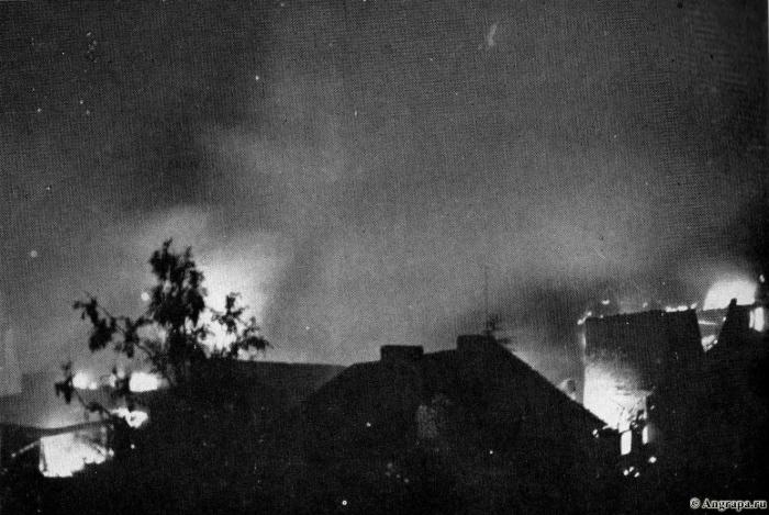 Feindliche Bomben fielen in der Nacht zum 27. Juli 1944 auf Insterburg