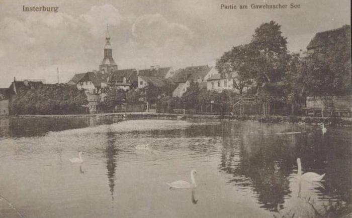 Partie am Gawehnscher See, Insterburg