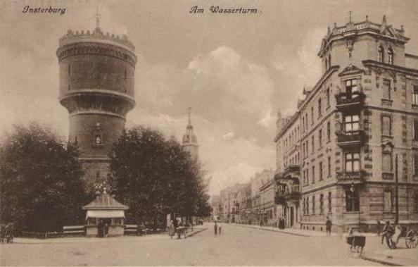 Am Wasserturm, Insterburg