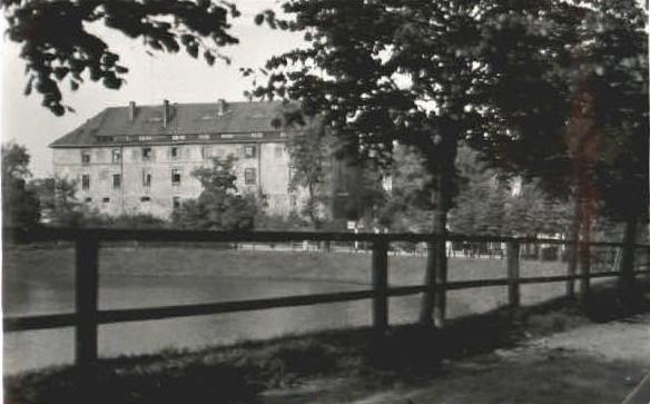 Schlossteich mit Schloss, Insterburg