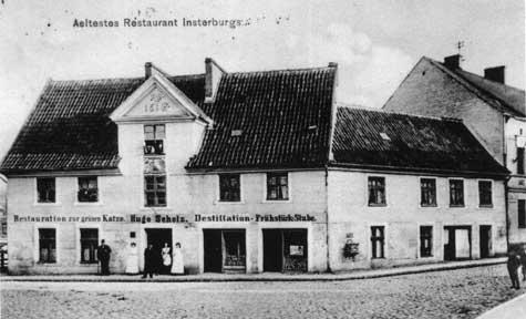Ältestes Restaurant Insterburgs «Die grüne Katze»