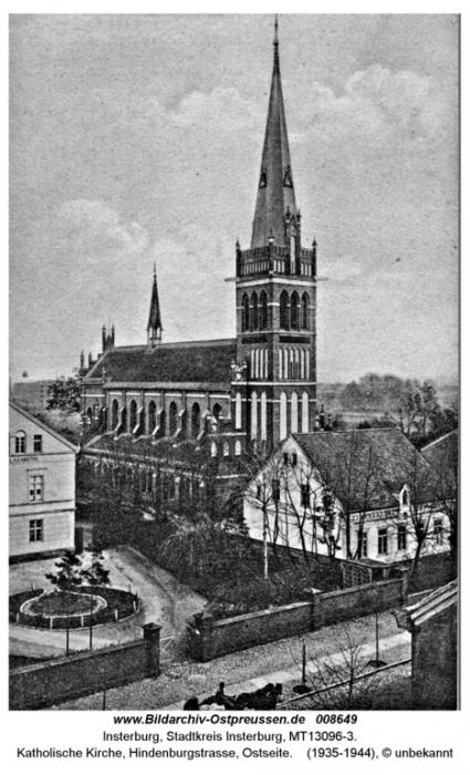 Katholische Kirche, Hindenburgstrasse, Ostseite, Insterburg