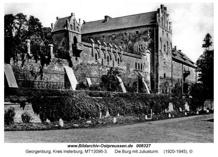 Die Georgenburg mit Juliusturm, Kreis Insterburg