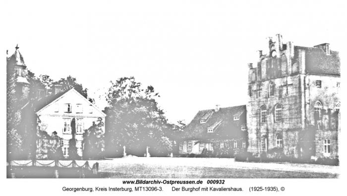 Burg Georgenburg, Innenhof mit Kavaliershaus. Georgenburg, Kreis Insterburg