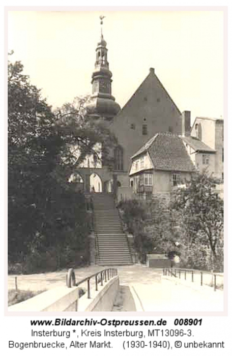 Bogenbrücke, Lutherkirche, Insterburg