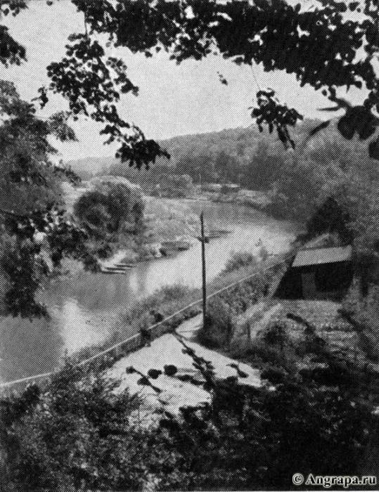 Blick auf die Angerapp und ihr Urstromtal, Insterburg