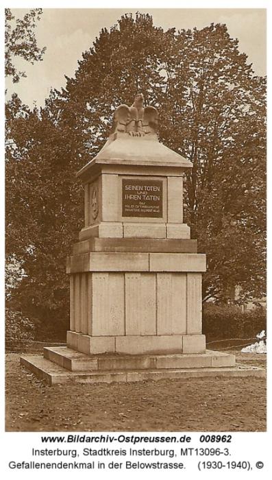 Heldendenkmal in der Belowstrasse, Insterburg