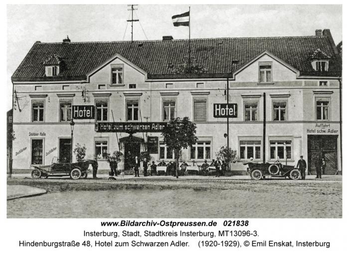 Hotel zum Schwarzen Adler, Insterburg