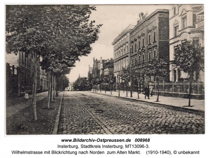 Wilhelmstrasse mit Blickrichtung nach Norden zum Alten Markt, Insterburg