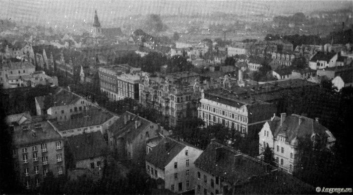 Vom Turm der Reformierten Kirche konnte man weit über die Stadt und Umgebung sehen, Insterburg