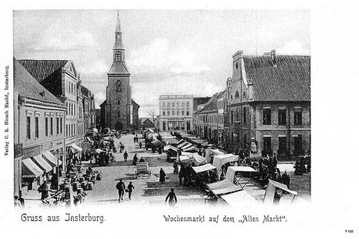 Wochenmarkt auf dem «Alten Markt», Insterburg