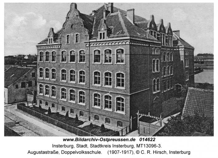 Augustastrasse, Doppelvolksschule, Insterburg