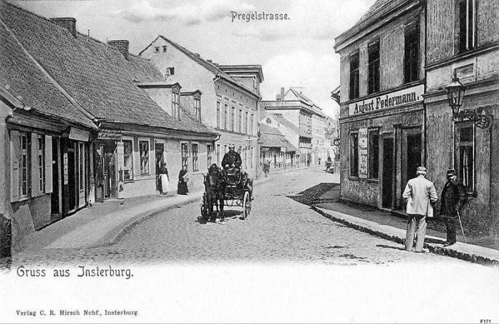 Die Pregelstrasse vor dem Ersten Weltkrieg, Insterburg