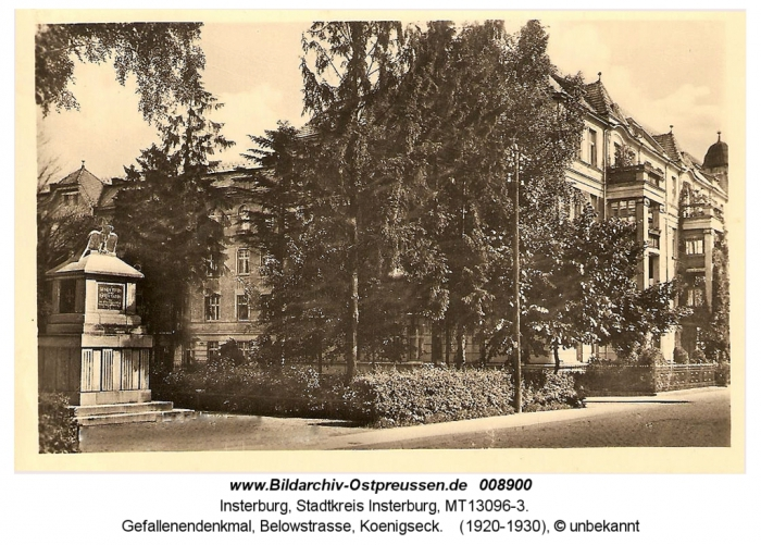 Gefallenendenkmal, Belowstrasse, Koenigseck, Insterburg