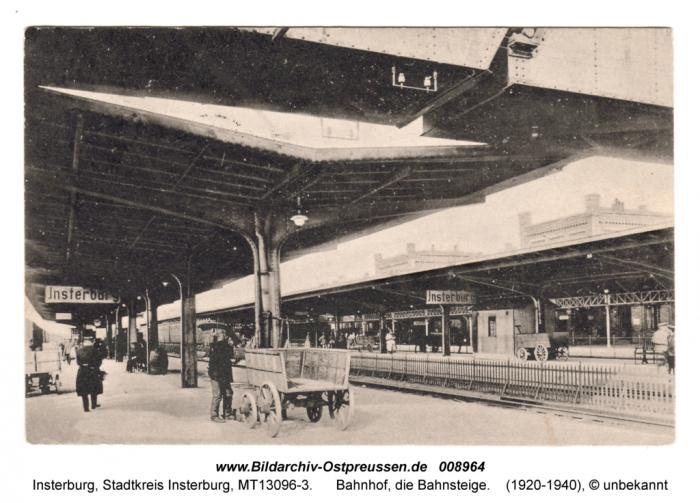 Bahnhof, Bahnsteige, Insterburg