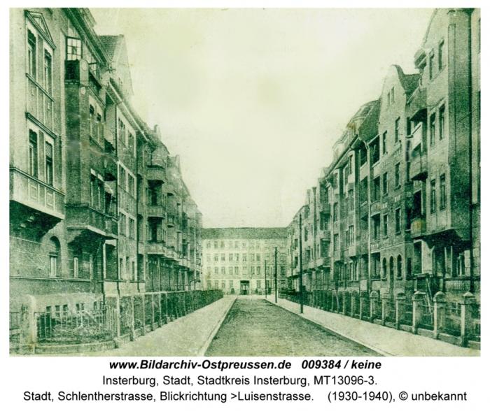 Schlentherstrasse, Insterburg