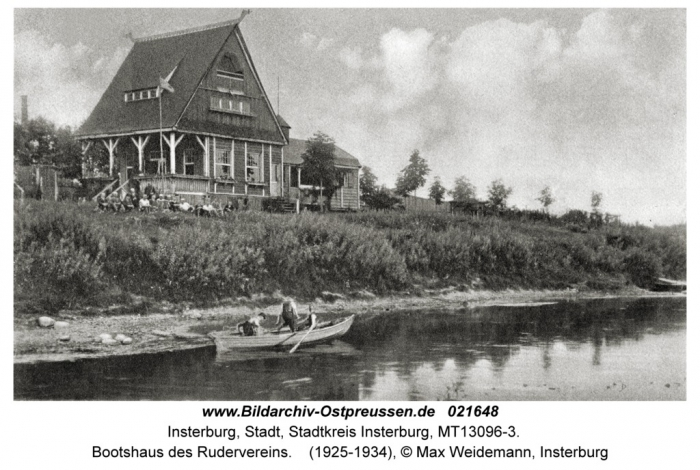 Boothaus des Rudervereins, Insterburg