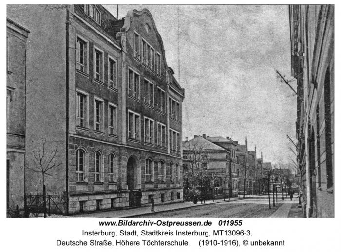 Deutsche Strasse, Höhere Töchterschule, Insterburg