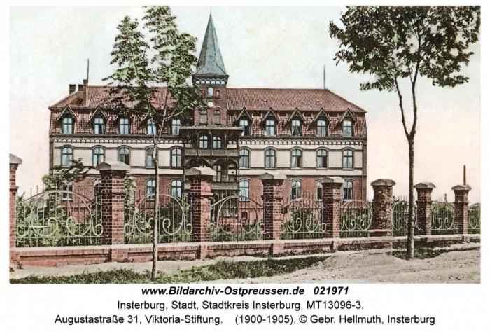 Augustastrasse 31, Victoria-Stiftung, Insterburg