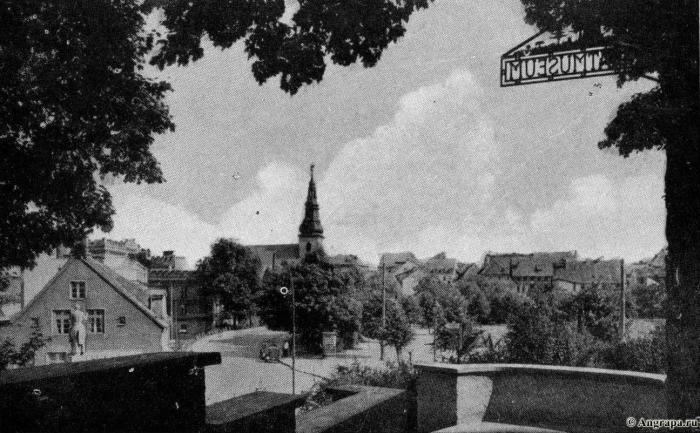 Vom Eingang des Heimatmuseums im Ostteil des Alten Schlosses Ordensburg, Insterburg