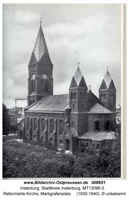 Reformierte Kirche, Markgrafenplatz, Insterburg