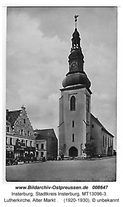 Lutherkirche, Alter Markt, Insterburg