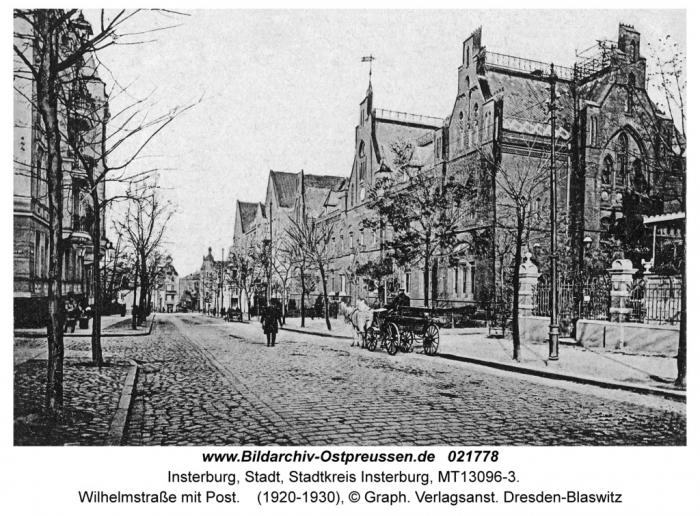 Wilhelmstrasse mit Post, Insterburg